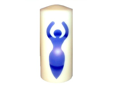 15cm Goddess Candle Blue